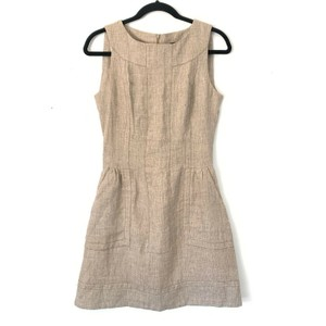 Tara Jarmon Linen Fit And Flare Career Dress