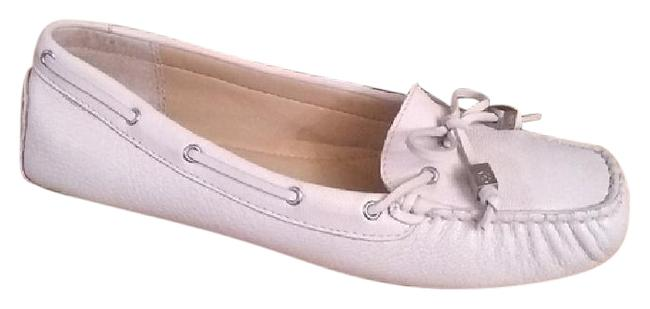 Item - Cream Sutton Leather 'sutton' Moccasin/Loafer Flats Size US 7.5 Regular (M, B)