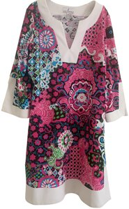 Jude Connally short dress pink, white, blue Tunic Abstract Pop Floral on Tradesy