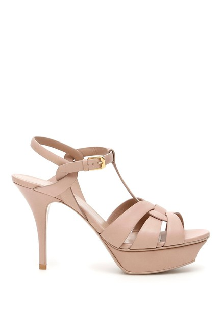 Saint Laurent Pink Tribute Sn 75 Leather Sandals Size EU 37 (Approx. US 7) Regular (M, B) Saint Laurent Pink Tribute Sn 75 Leather Sandals Size EU 37 (Approx. US 7) Regular (M, B) Image 1