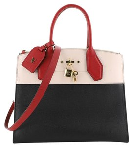 Louis Vuitton Leather Tote in Black, Pink, Red