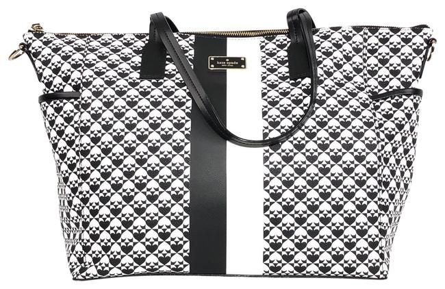 Item - Penn Place Adaira Black / White Vinyl Diaper Bag