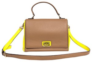 Kate Spade Crossbody Leather Satchel in Dune