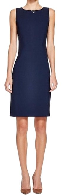 Item - Deep Navy Betty 2b Wool Blend Sheath Short Casual Dress Size 2 (XS)