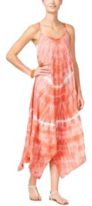 Raviya Tie Dye Maxi Asymmetrical Swim Cover Up Dress