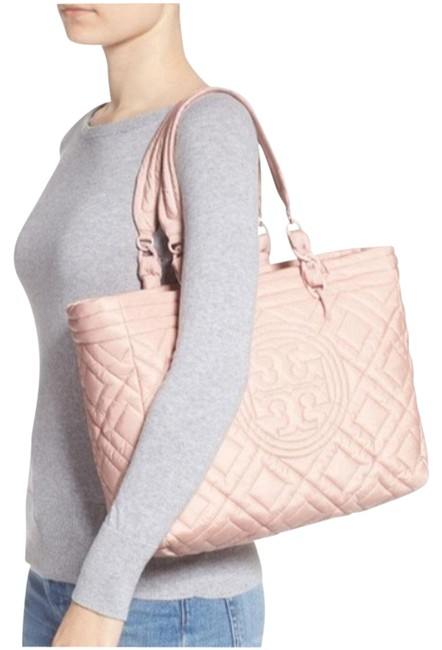 Item - Fleming Quilted Mineral Pink Nylon Tote