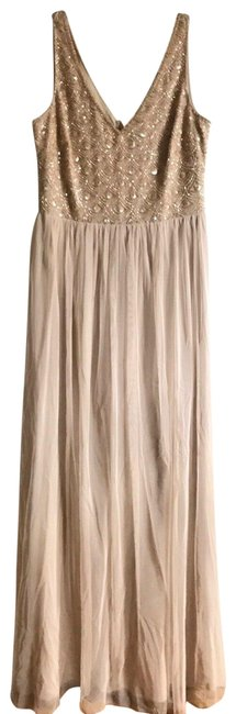 Item - Cream Adrianna Papell Nwot Evening Gown Long Casual Maxi Dress Size 6 (S)