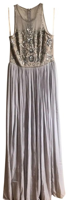 Item - Silver Adrianna Papell Nwot Evening Gown Long Casual Maxi Dress Size 6 (S)