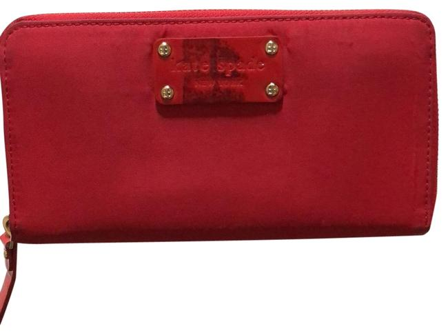 Item - Red Nylon with Leather Interior New York Wallet