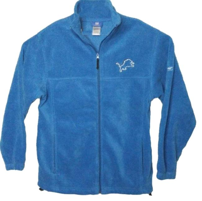 Item - Blue XL Detroit Lions Fleece Hawaiian Jacket Size 18 (XL, Plus 0x)