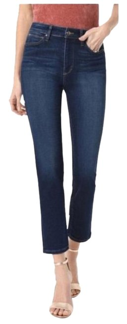 Item - Blue Dark Rinse Milla The High Waist Ankle Straight Capri/Cropped Jeans Size 31 (6, M)