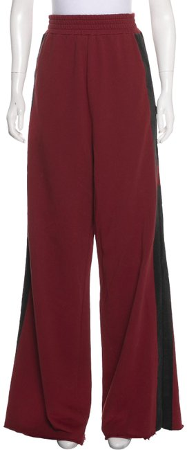 Item - Red High Rise Waist Wide Leg Track Small Pants Size 4 (S, 27)