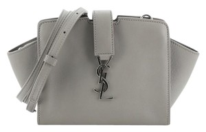 Saint Laurent Leather Satchel in Gray