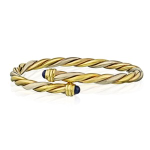Cartier Vintage Lapis Lazuli Twisted Bypass Bangle