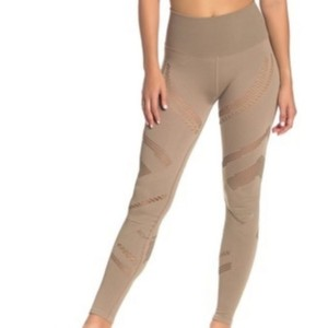 Alo ALO Yoga High Waist Seamless Radiance Leggings In Grave Nude