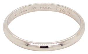 Cartier Platinum 2.5mm Dome Wedding Band Ring Size 59