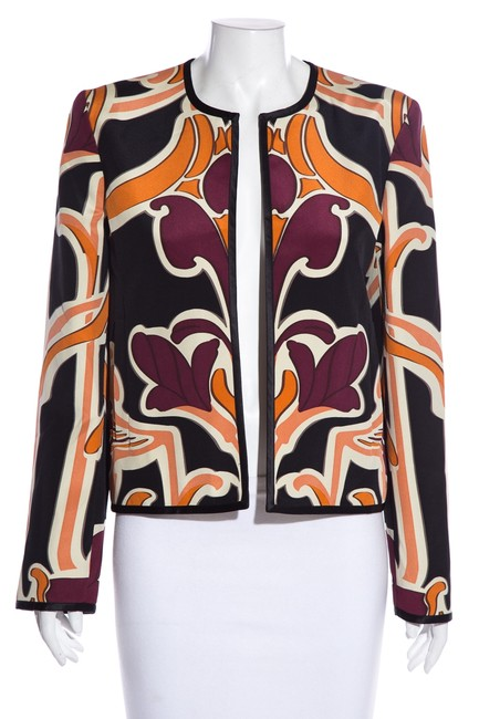 Item - Multicolor Printed Silk Jacket Size 8 (M)