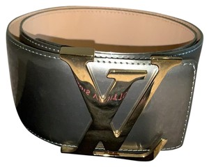 Louis Vuitton Louis Vuitton Gris patent wide waist belt