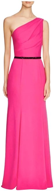 Item - Pink Infusion One Shoulder Belted Gown Long Night Out Dress Size 2 (XS)