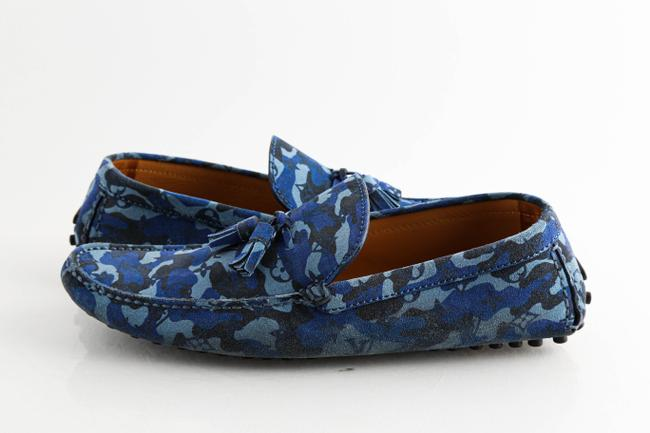 Item - Blue Camo Monogram Driving Loafers Shoes