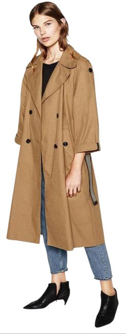 Item - Beige Military Double Breasted Rain Coat Size 10 (M)