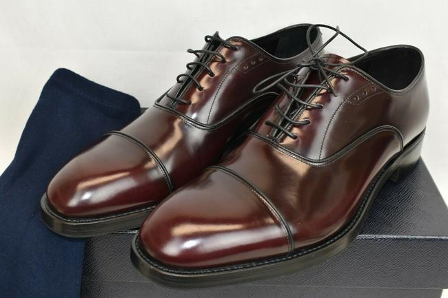 Item - Red 2ea130 Burgundy Polished Leather Cap Toe Oxfords 7.5 Us 8.5 Shoes