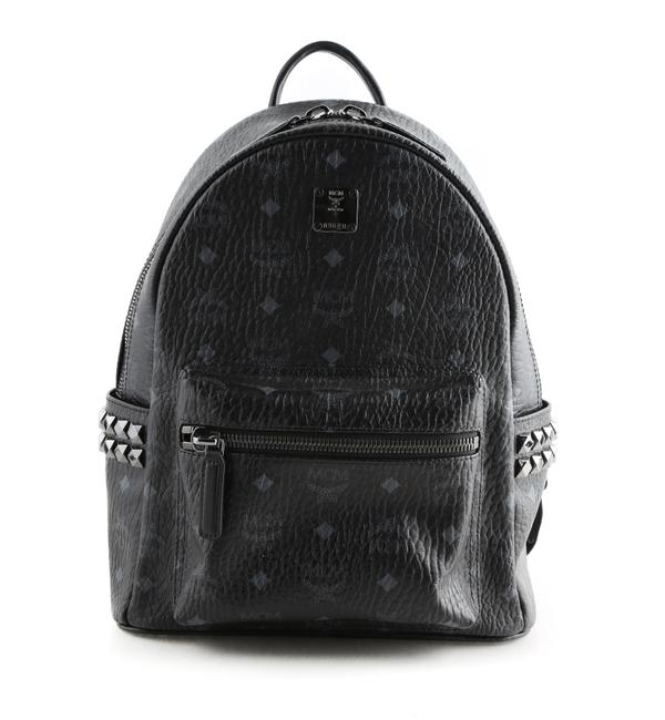 Item - Small Stark Side Stud Black Leather Backpack