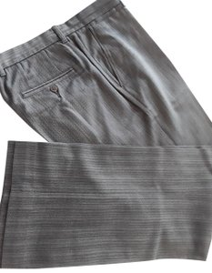 Joseph Abboud 55% Cotton 45% Wool Not Cuffed Made In Hong Kong Trouser Pants striped