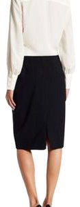 Lands End Pencil Wool Skirt Black