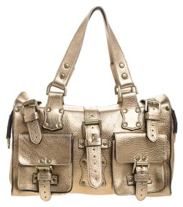 Mulberry Gold Leather Satchel in Metallic