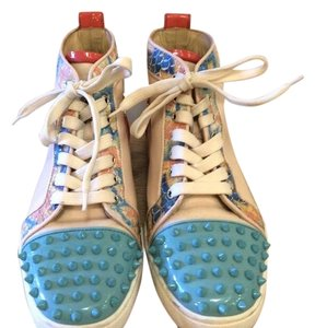 Christian Louboutin blue, red, tan, multicolor Athletic