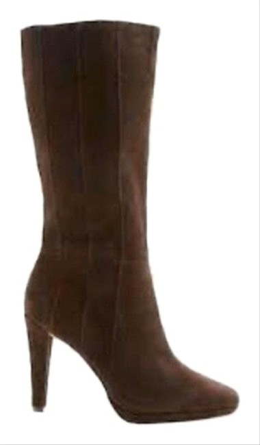 Item - Brown Natalia Chocolate Suede Pleated Boots/Booties Size US 7.5 Regular (M, B)