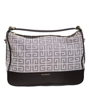 Givenchy Monogram Canvas Leather Satchel in Grey