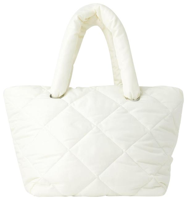 Item - Bag Quilted Ref 1159/004 White Polyester Tote