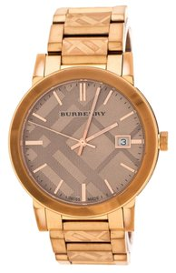 Burberry Bronze Rose Gold Plated Stainless Steel The City BU9039 Men's Wristwat