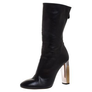 Alexander McQueen Leather Black Boots