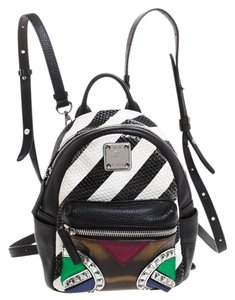 MCM Leather Pvc Suede Backpack