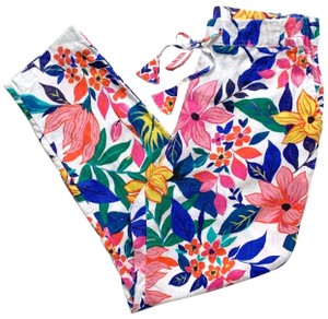 C&C California Relaxed Pants White, Pink