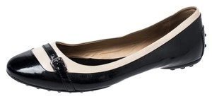 Tod's Patent Leather Detail Ballet Black Flats