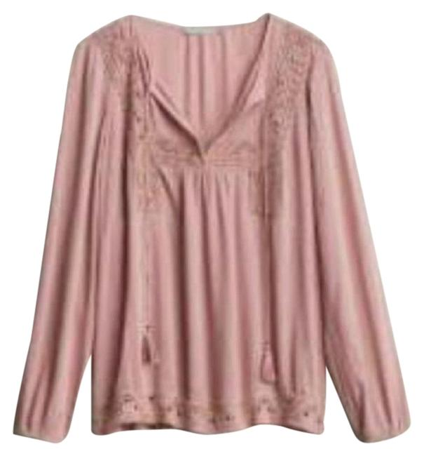 Item - Pink Stitch Fix Dayln Crochet Tassels Blouse Size 16 (XL, Plus 0x)