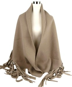 Burberry Burberry Camel Solid Felted Fringe Wool/Cashmere Scarf Shawl 3995022