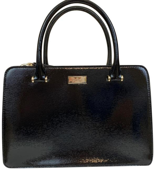 Kate Spade Bixby Place Lise Black Patent Leather Satchel Kate Spade Bixby Place Lise Black Patent Leather Satchel Image 1