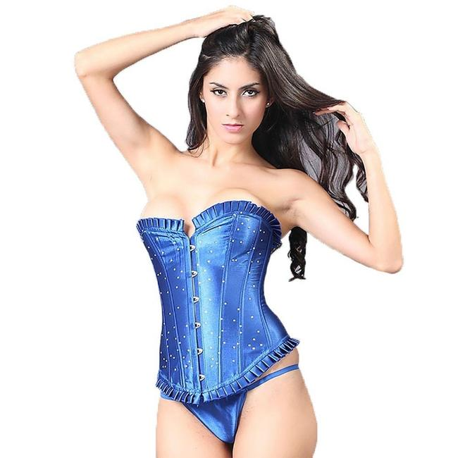 Item - Blue Sexy Lace Up Royal Waist Trainer Corset