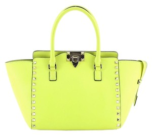 Valentino Leather Tote in Green