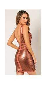 Wow Couture Sequin Sexy Bandage Dress