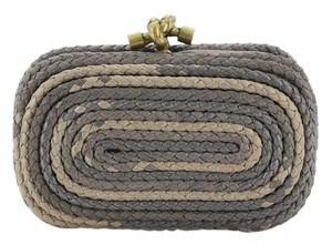 Bottega Veneta Leather Gray, Neutral Clutch