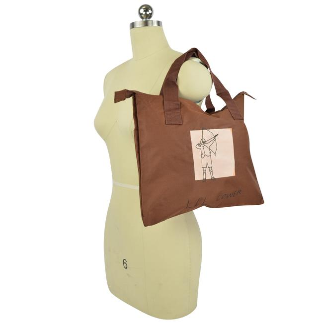 "Marc Jacobs Portfolio ""Lil Lower"" Medium Zip Brown Canvas Tote Marc Jacobs Portfolio ""Lil Lower"" Medium Zip Brown Canvas Tote Image 1"