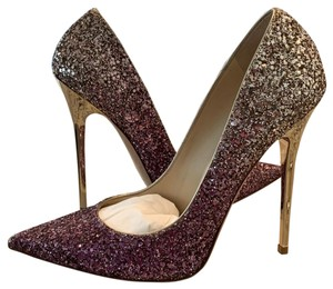 Jimmy Choo violet and gold Pumps