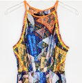 Anthropologie Blue Neon Orange Neon Yellow Ranna Gill Condesa Maxi Long Night Out Dress Size 4 (S) Anthropologie Blue Neon Orange Neon Yellow Ranna Gill Condesa Maxi Long Night Out Dress Size 4 (S) Image 3