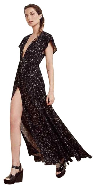 Item - Black Star Print Orchid In Galactic Long Night Out Dress Size 4 (S)